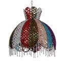 Antique Domed Ceiling Pendant Light Crystal 1/3 Lights Hanging Light for Living Room