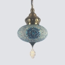 Spherical Small Pendant Lighting Mosaic Vintage Ceiling Lighting for Living Room