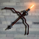 Bow and Arrow Sconce Light Living Room Single Light Industrial Wall Light in Rust