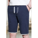 Summer New Fashion Simple Plain Cotton Loose Beach Lounge Shorts