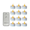 12 Pack LED Tea Light Remote Control Flameless Candles in White/Warm/Neutral for Outdoor
