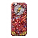 Comic Figure Lightning Logo Print Red Frosted Mobile Phone Case for iPhone