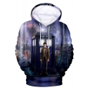 Doctor Who 3D Galaxy Figure Printed Long Sleeve Cosplay Costume Unisex Purple Drawstring Hoodie