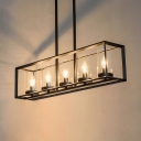 Metal Rectangle Hanging Island Lights with 33.5