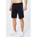 Mens Fashion Vented Side Drawstring Waist Zip Pocket Cotton Sport Active Shorts