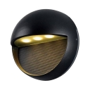 Round Wall Light for Front Door Fence Waterproof 3-LED Security Night Light in Warm/White