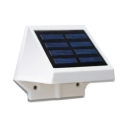 4 LED Solar Powered Lights Driveway Waterproof Dusk To Dawn Sensor Deck Lights in White/Warm