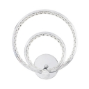 Ring Wall Lamp Hallway Contemporary Sconce Light with Clear Crystal Bead in Chrome