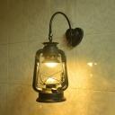 Kerosene Hanging Light Outdoor Single Light Vintage Wall Lamp in Black/Copper/Bronze
