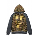 New Fashion Camo Letter NEW YORK 7 Printed Long Sleeve Casual Pullover Hoodie