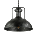 Industrial Pendant Light with Bowl Shade in Sliver for Indoor Lighting
