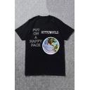 Astorworld Popular Funny Smile Face Printed Cotton Loose T-Shirt