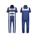 Cosplay Costume Stand-Collar Short Sleeve Jumpsuits
