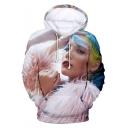 Popular American Singer Cool 3D Figure Printed Long Sleeve Pullover Hoodie