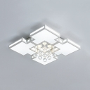 Bedroom Square Ceiling Pendant Acrylic Contemporary White Ceiling Flush Mount Light