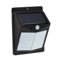 Stainless Steel Solar Step Lights 50 LED Wireless Motion Sensor Security Lamps in Black