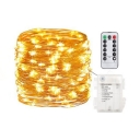 Rope LED Wall String Lights 16/33/67ft 50/100/200 Lights Remote Control String Lights in White/Warm White