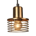 Brass Spiral Shape Pendant Lamp with 47