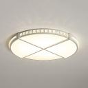 Modern Round/Flower Flush Light Fixture Acrylic LED Ceiling Light in White for Dining Room