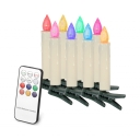 Pack of 10 Fake Candles with Remote Control Outdoor Indoor Flameless LED Light Candles