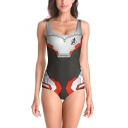 New Popular Quantum Battle Suit Cosplay Costume Scoop Neck One Piece Swimsuit