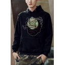 Mens Hot Fashion Baseball Skull Pattern Long Sleeve Sport Casual Drawstring Hoodie