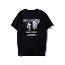 GOOD FRIENDS Summer Cotton Loose Short Sleeve Black Graphic Tee