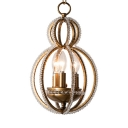 Gold Sphere Light Fixture 3 Lights Classic Height Adjustable Clear Crystal Chandelier with 19.5