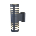Wireless Waterproof Security Lighting 2 LED Cylindrical Wall Light for Front Door