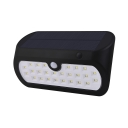 Black 26 LED Solar Lights with Motion Sensor Stainless Steel Waterproof Deck Lights for Pathway