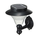 Waterproof Solar Wall Sconce with Cone 8 LED Clear Glass Wall Lighting for Garden in Warm/White