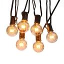 1ft 25 Lights LED String Lights Pack of 2 Water-Resistant Round Bulb Hanging Lights for Outdoor
