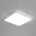 Square/Rectangle LED Ceiling Light Fixture with Crystal Modern Acrylic Flush Light in Warm/White