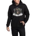 Guys Hip Hop Style Figure Printed Unisex Long Sleeve Casual Drawstring Hoodie