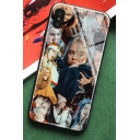 Cool Figure Print Toughened Glass Mobile Phone Case for iPhone