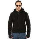 Mens Stylish Plain Long Sleeve Zipper Pockets Outdoor Sport Warm Fleece Hoodie Jacket