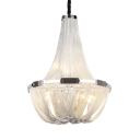 Metal Empire Chandelier 5/6 Lights Contemporary Pendant Lighting in Chrome Finish