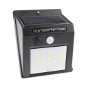 20/25/30 LED Solar Wall Light with Motion Sensor Waterproof Deck Light in Black for Garage