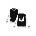 New Popular American Rapper Rib Stand Collar Long Sleeve Casual Unisex Varsity Baseball Jacket