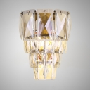 Clear Crystal Sconce Light 3 Lights Contemporary Wall Light Fixture for Dining Room