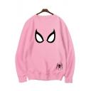 Spider-Man Into the Spider-Verse Cool Pattern Round Neck Long Sleeve Pullover Sweatshirt