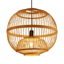 Bamboo Orb Suspended Light with 39