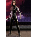 Alita Battle Angel Cosplay Costume long Sleeve Ruched Details Skinny Jumpsuit