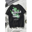 IN JUNGLE WE TRUST Graphic Printed Short Sleeve Relaxed T-Shirt