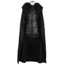 Game of Thrones Jon Snow Cosplay Costume Black Cape Cloak