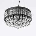 Modern Drum Light Fixture with 23.5