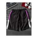 Summer Fashion Letter Tape Side Drawstring Waist Guys Sport Casual Active Shorts