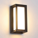 Rectangle Sconce Light 2 LED Modern Wireless Waterproof Wall Lighting for Fence Patio