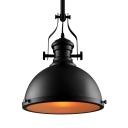Industrial Style 12'' Wide Black Pendant Light with Diffuser