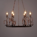 Traditional Candle Pendant Light with 39